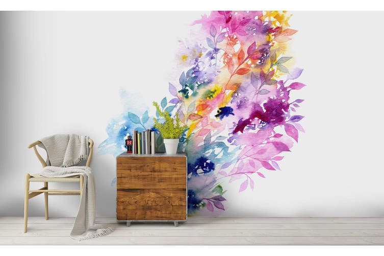 3D Watercolor Floral Wall Mural Wallpaper 215 Premium Non-Woven Paper-W: 420cm X H: 260cm