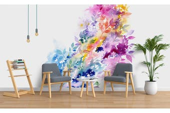 3D Watercolor Floral Wall Mural Wallpaper 215 Premium Non-Woven Paper-W: 525cm X H: 295cm