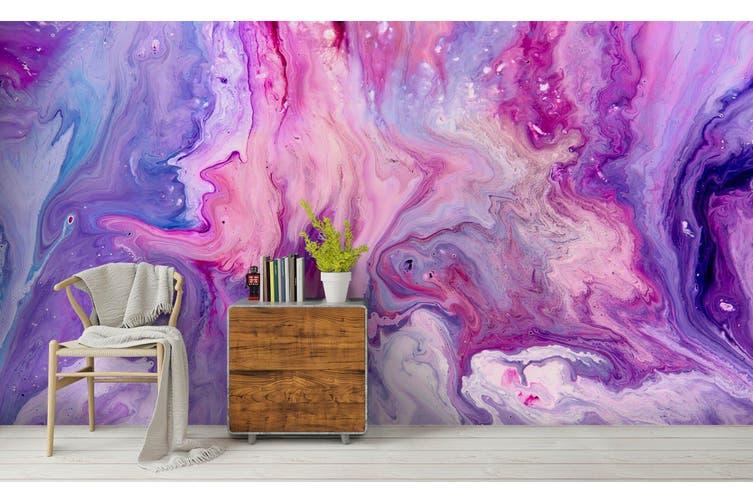 3D Watercolor Purple Pattern Wall Mural Wallpaper 214 Premium Non-Woven Paper-W: 210cm X H: 146cm