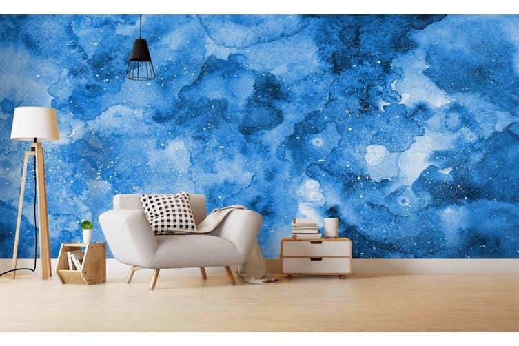 3D Watercolor Blue Pattern Wall Mural Wallpaper 213 Premium Non-Woven Paper-W: 210cm X H: 146cm