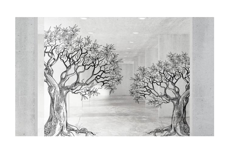 Dick Smith 3d Trees Space Sketch Wall Mural Wallpaper 226 Premium Non Woven Paper W 420cm X H 260cm Wallpaper Murals Wallpaper