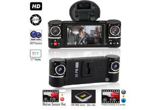 """2.7"""" HD Dual Lens Car Dash Camera Dashboard DVR, IR Night Vision, Dashcam with 2 Cameras"""