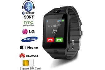 Bluetooth Smart Watch Phone, GSM SIM For Android iPhone Samsung