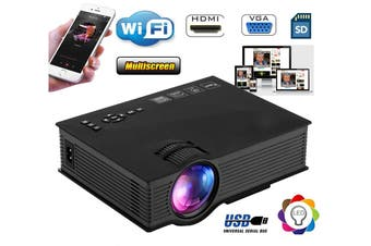 Wi-Fi LED Multimedia Home Theatre Video Movie Projector Supports both Android & IOS WiFi
