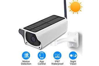 Solar Power 1080P Wireless Wi-Fi IP Waterproof Security Camera, HD Night Vision, Mobile Phone Viewing, WiFi Network Surveillance Camera System with Battery Backup