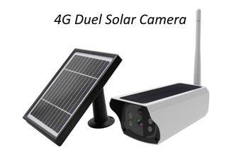 4G Solar Security Camera & Solar Panel, HD IR Camera, Control via App, Two-way audio, Waterproof