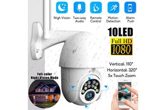 Professional Security Outdoor/Indoor IP Camera, 5x Zoom, Two Way Audio, PTZ, Wi-Fi Camera