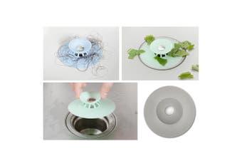 3x Silicone Bath Sink Strainer Waste Plug Floor Drain Filter Hair Catcher Stopper (Grey)