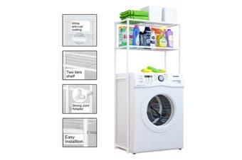 2 Tiers Storage Rack Over Toilet/Bathroom/Laundry/Washing Machine Towel Shelf