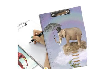 A4 Cartoon Clipboard Stationery Clip Paper Folder Board Drawing Writing Pad (Style 1)