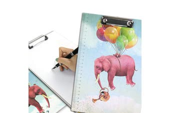 A4 Cartoon Clipboard Stationery Clip Paper Folder Board Drawing Writing Pad (Style 2)