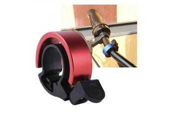 90db Fashion Bike Bell Aluminum For 22.2-22.8mm Handlebar (Red)