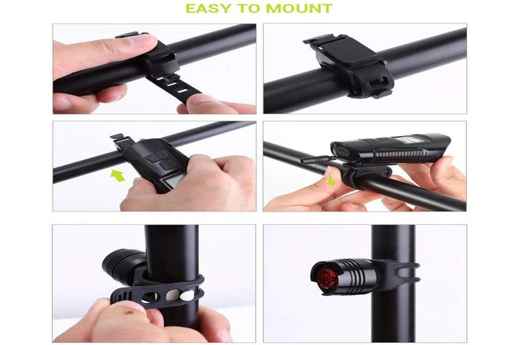 Back Bicycle Speedometer Bike Light Odometer USB Rechargeable Bicycle Headlight and Bike Light Set Bike Lights Front