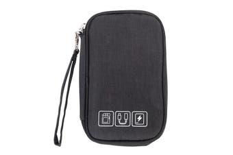 Multifunction Digital Storage Bag Travel Cable Bag USB Charger Earphone Organizer BLACK