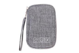 Multifunction Digital Storage Bag Travel Cable Bag USB Charger Earphone Organizer GRAY
