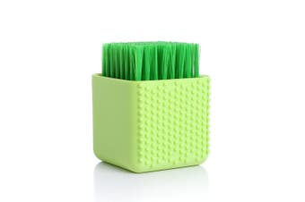 Multi-use Household Bathroom Silicone Cleaning Brush Makeup Cleaner Washing Scrubber Tool Laundry Clean Brush Washing Tool GREEN COLOR