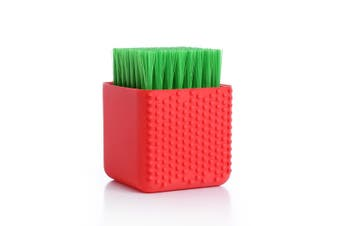 Multi-use Household Bathroom Silicone Cleaning Brush Makeup Cleaner Washing Scrubber Tool Laundry Clean Brush Washing Tool RED COLOR