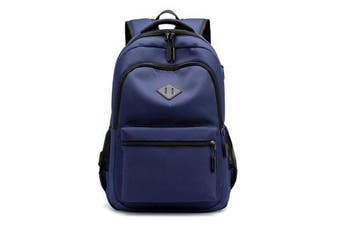 Simple Casual Backpack USB Charging Large Capacity Laptop Bag