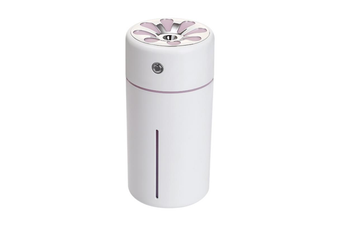 CZW-18 Mini Portable Humidifier 360ML 3 in 1 USB Car Mist Humidifier Noise-Free Office Desktop Air Purifier Refresher with USB Fan and LED Light for Office Car Bedroom Hotel Travelling