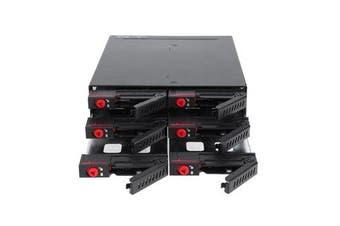6 Bay SATA SSD Hard Drive Enclosure Rack Data Storage For 2.5Inch SATA SSD HDD Home Backup Mail Storage Computer Case