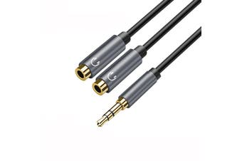 Headphone Splitter Audio Cable Male to 2 Female 3.5mm Audio Splitter Aux Cable Earphone Extension Cable for Mobile Phones