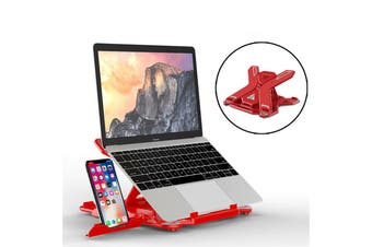 E5 Portable Laptop Stand Adjustable Computer Stand with Phone Holder for Notebook