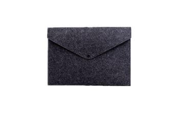 2pcs Simple Solid A4 Felt Document Bag Business Briefcase File Folder Office School Student Gifts