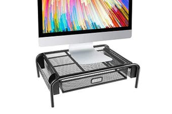 Monitor Stand Riser Mesh Metal Printer Stand Holder Laptop Stand