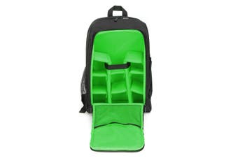 Waterproof Theftproof Large Camera Backpack Bag Case For DSLR Camera Lens GREEN