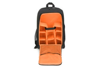 Waterproof Theftproof Large Camera Backpack Bag Case For DSLR Camera Lens ORANGE