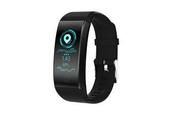 QW18 IP68 Heart Rate Monitor Multi-sport Mode Fitness Tracker Smart Wristband BLACK COLOUR