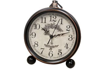 Retro Mute Alarm Clock Table Clock Bedroom Creative Clock 5.5 Inch American Table Clock