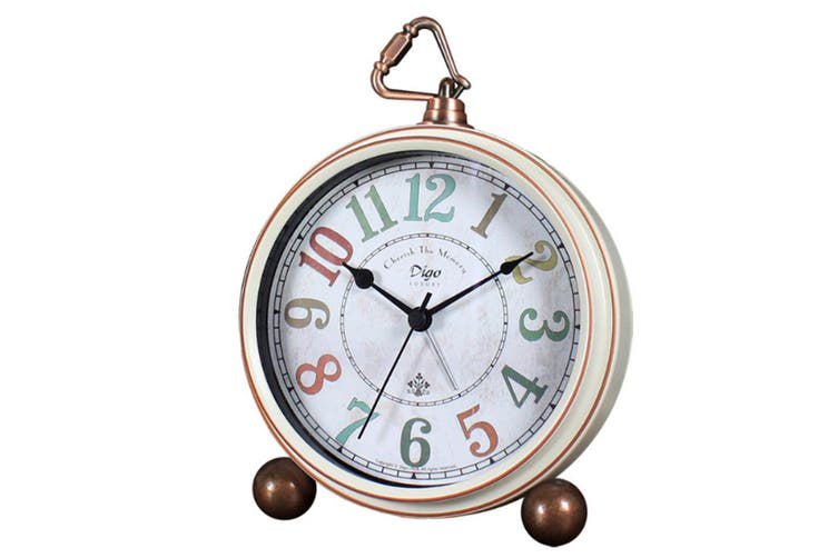 """5"""" Clock Bedroom Creative Clock Retro Mute Alarm Clock Wall Clock American Table Clock"""