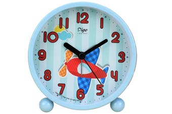 "4"" Simple Bedroom Living Room Alarm Clock Cartoon Small Alarm Clock Electronic Desktop Clock"
