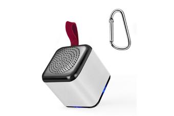 JunChang Mini Bluetooth Speaker Phone Smart Audio Microphone TWS Speaker Subwoofer Suitable for Outdoor-Grey