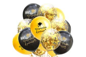 JunChang 15PCS Latex Party Balloons with Golden Paper Confetti Dots for Wedding Engagement Party Decorations-6