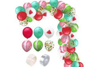 JunChang 60PCS Hawaii Color Balloon Combination Set Suitable for Birthday Wedding Party Decoration-1