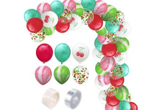 JunChang 60PCS Hawaii Color Balloon Combination Set Suitable for Birthday Wedding Party Decoration-2