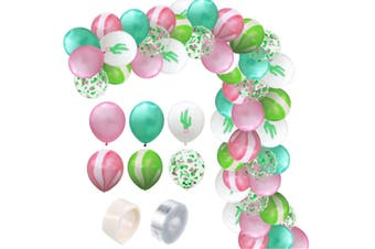JunChang 60PCS Hawaii Color Balloon Combination Set Suitable for Birthday Wedding Party Decoration-3