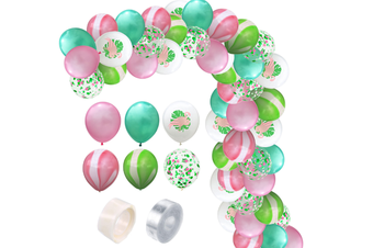 JunChang 60PCS Hawaii Color Balloon Combination Set Suitable for Birthday Wedding Party Decoration-4