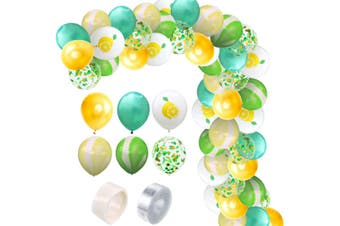 JunChang 60PCS Hawaii Color Balloon Combination Set Suitable for Birthday Wedding Party Decoration-5