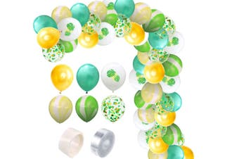 JunChang 60PCS Hawaii Color Balloon Combination Set Suitable for Birthday Wedding Party Decoration-6