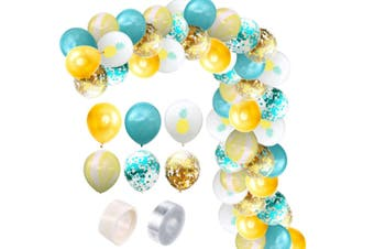 JunChang 60PCS Hawaii Color Balloon Combination Set Suitable for Birthday Wedding Party Decoration-7