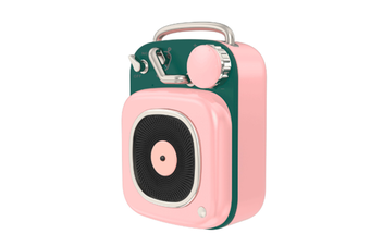 JunChang Creative Wireless Bluetooth Speaker Mini Portable Retro Small Sound Suitable for Outdoor-Pink