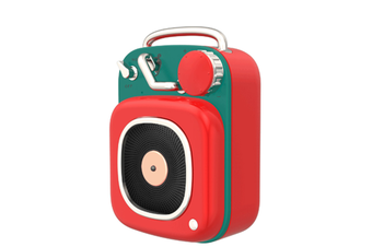 JunChang Creative Wireless Bluetooth Speaker Mini Portable Retro Small Sound Suitable for Outdoor-Red