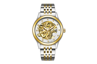 JunChang Automatic Dragon Watch Business Steel Band Watch Luminous Waterproof Mechanical Watch Suitable for Men-1