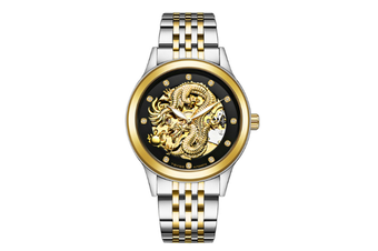 JunChang Automatic Dragon Watch Business Steel Band Watch Luminous Waterproof Mechanical Watch Suitable for Men-2