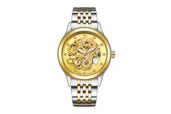 JunChang Automatic Dragon Watch Business Steel Band Watch Luminous Waterproof Mechanical Watch Suitable for Men-3