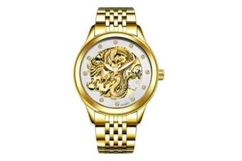 JunChang Automatic Dragon Watch Business Steel Band Watch Luminous Waterproof Mechanical Watch Suitable for Men-4