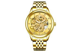 JunChang Automatic Dragon Watch Business Steel Band Watch Luminous Waterproof Mechanical Watch Suitable for Men-6